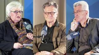 Sigrid Löffler, Eberhard Falcke und Helmut Böttiger
