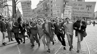 Studenten protestieren im Mai 1968 in Berlin-Neukölln