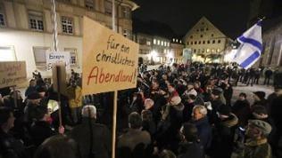 Anti-Islam-Demonstration in Villingen-Schwenningen von 2015.