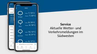 Service: Aktuelle Wetter- und Verkehrsmeldungen im Südwesten.