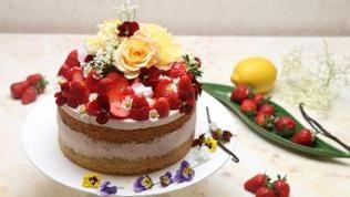 Muttertagstorte mit Erdbeeren und Erdbeersahne