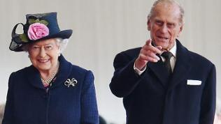 Britain's Queen Elizabeth II and Prince Philip, the Duke of Edinburgh 2014