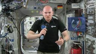 Alexander Gerst an Bord der Internationalen Raumstation (ISS) (2014)