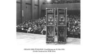 Gesang der Jünglinge, Uraufführung am 30. Mai 1956 (Großer Sendesaal des WDR Köln)