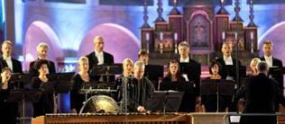 Das SWR Vokalensemble singt in der Basilika St. Kastor in Koblenz
