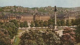 """Hans Hildenbrand: """"Stuttgart Schlossplatz"""" von 1920"""