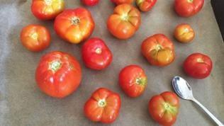 Tomaten waschen und schneiden