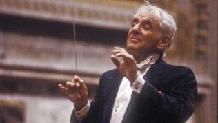 Der Dirigent Leonard Bernstein 1983