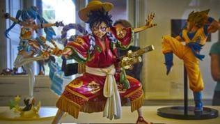 """Manga-Plastiken aus der Ausstellung """"Im Japanfieber"""" im Arp Museum Rolandseck"""