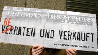 Lehman-Protestschild