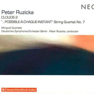 "CD-Cover: Peter Ruzicka: Streichquartett Nr.7 ""...Possible-A-Chaque-Instant"""