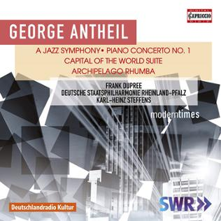 CD-Cover George Antheil moderntimes