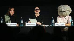 Pressekonferenz zu Plänen für den Deutschen Pavillon bei der Biennale in Venedig