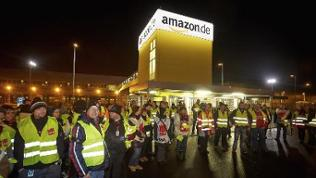 Streik vor dem Amazon-Logistikzentrum, Koblenz