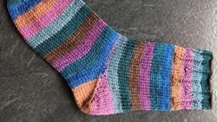 Socke mit Bündchen