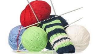 Wolle und Strickzeug