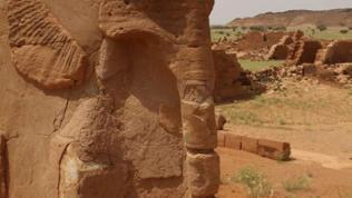 Der Elefantentempel aus Nubischer Zeit liegt in der Nähe der Strecke Khartoum – Atbara.