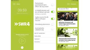 Screenshot der SWR4 App
