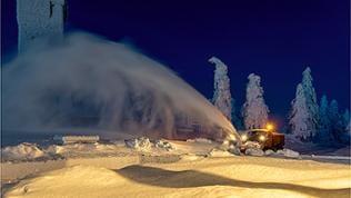 Schneepflug auf der Hornisgrinde