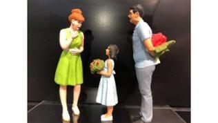 Firma Preiser: Überraschung mit Blumen.