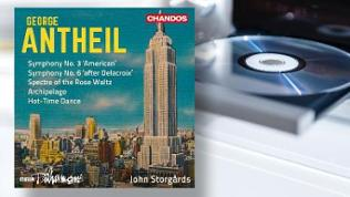 "CD-Cover: George Antheil: Symphonien Nr.3 ""American"" & Nr.6 ""after Delacroix"""