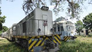 Eine Alstom Diesellokomotive Baujahr 1971.