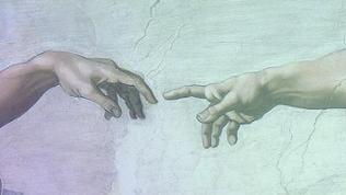 """Michelangelos """"die Erschaffung Adams"""""""