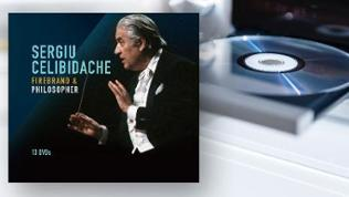 CD-Box-Cover: Sergiu Celibidache: Feuerkopf & Philosoph - DVD Box