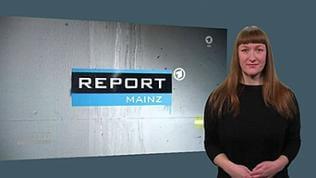 Report Mainz Gebärdensprachdolmetscherin