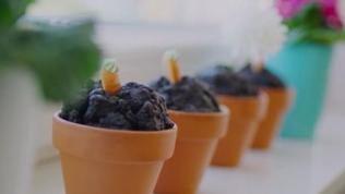 Muffins im Blumentopf