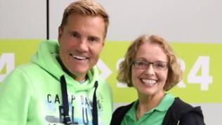 Dieter Bohlen mit SWR4 Moderatorin Sabine Gronau
