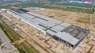 Tesla Shanghai Gigafactory Under Construction