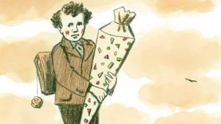 """Cartoon """"Die Zuckertüte"""" (Ausschnitt)"""