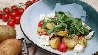 Bratkartoffelsalat mit Feta