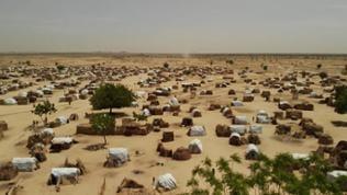 Flüchtlingslager in der Sahelzone