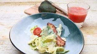 Ceasar Salad mit Wassermelonendrink