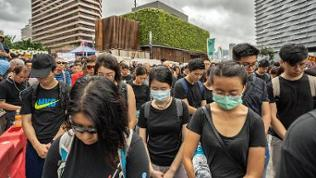 Großdemonstration in Hongkong  am 7. Juli 2019