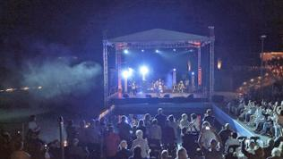 Auftritt von Smokie beim Musikfestival Gemündener Maar