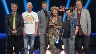 Mathias Richling, Rüdiger Hoffmann, Florian Schroeder, Sissi Perlinger, Hennes Bender und Stefan Waghubinger