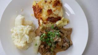 Kartoffelgratin mit Pilzen