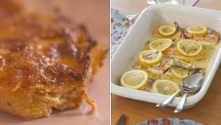 Kartoffelgratin mit Lachsfilet