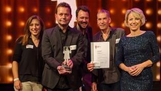 Die Preisträger Judith Brosel, Jürgen Rose, Nick Schader, Adrian Peter und Birgitta Weber (v.l.)