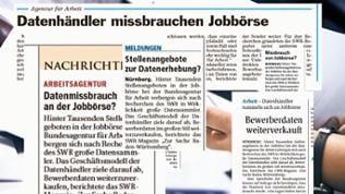 Zeitungsartikel zum Datenskandal