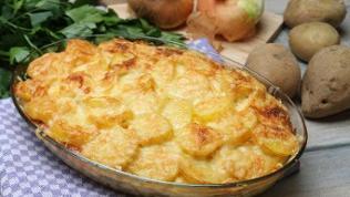 Kartoffelauflauf mit Lyoner
