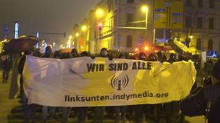 Indymedia-Demo in Leipzig