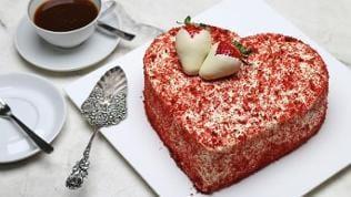 Rote Herztorte