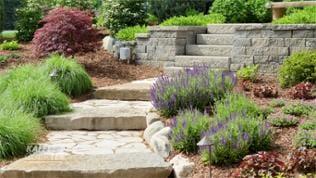 Stufen im Garten
