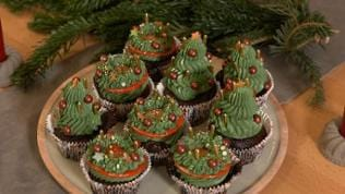 Weihnachts-Cupcakes
