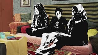 Grafik: Familie in Kabul