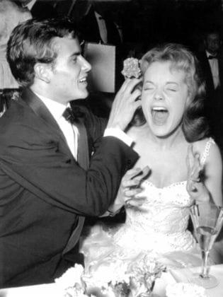 Romy Schneider mit Horst Buchholz (links) im Jahr 1957.
